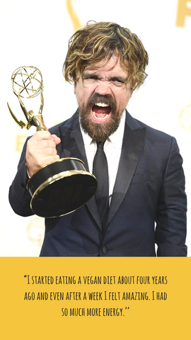 Peter Dinklage vegan game of throne quote