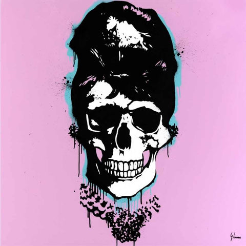 Audrey Hepburn breakfast at Tiffany skull art George ioannou