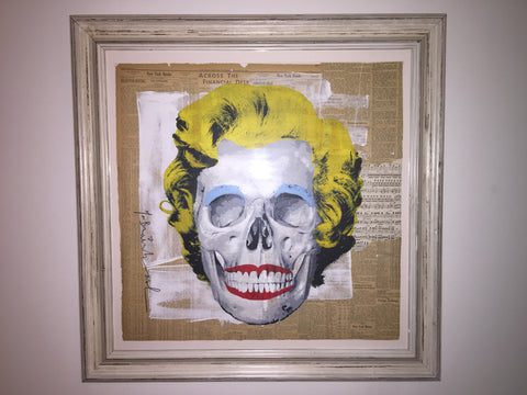 Mr brainwash saatchi gallery Madonna Marilyn skull art