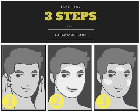 3 steps skin cleaning