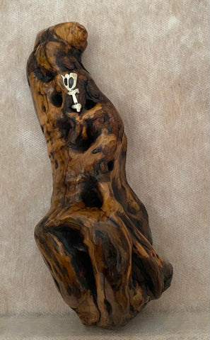 Unique Olive Wood Mezuzah Case