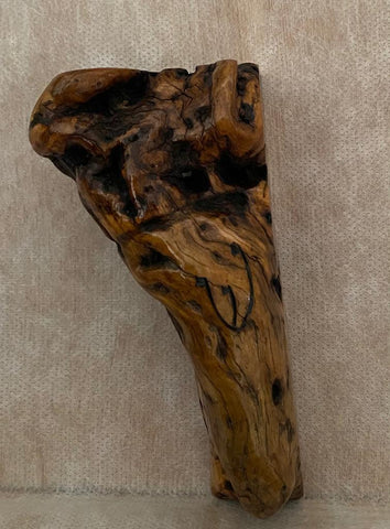Ancient Olive Wood Mezuzah Case