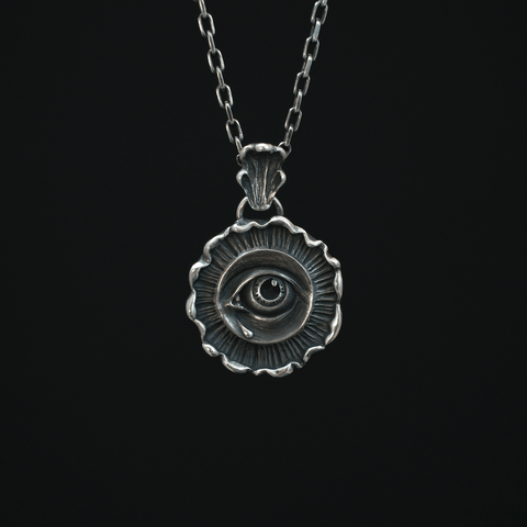 Toilworn Gentle Wrath Pendant Sterling Silver