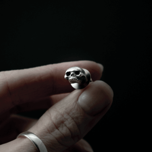 Tiny Untimely Skull Pin