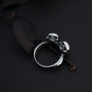 Twin Untimely Skull Ring