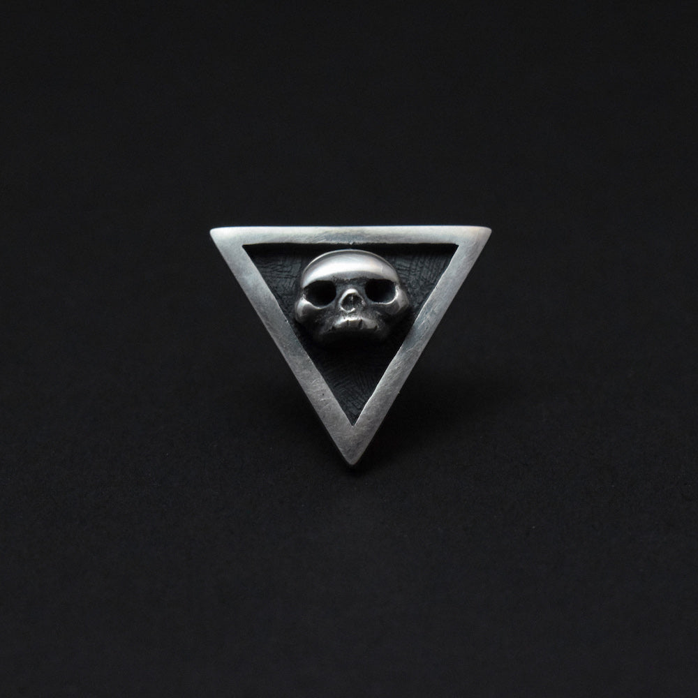 Toilworn Untimely Skull Pin Sterling Silver
