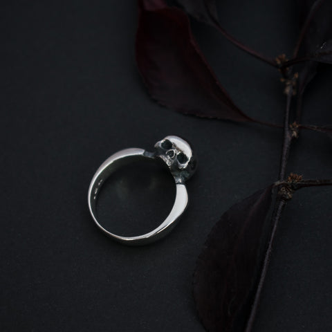 Toilworn Untimely Sterling Skull Ring