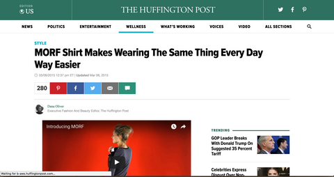 MORF Multishirt on the Huffington