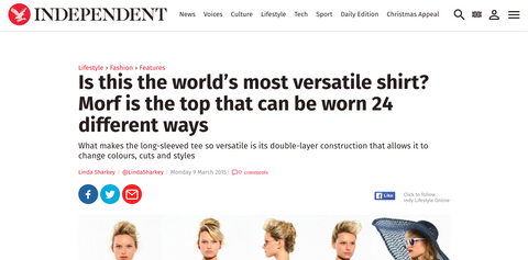 MORF Multishirt on the Independent