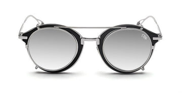 Dubranchet clip on biker sunglasses with silver mirrored lens