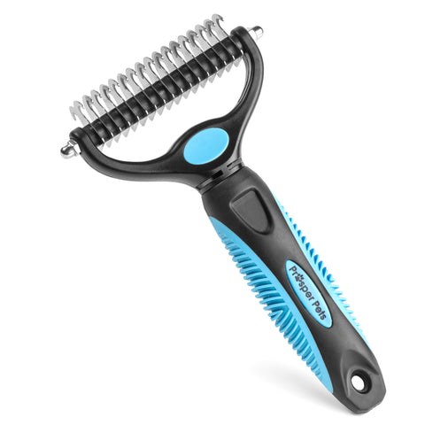 Dematting Comb for Dogs and Cats - Grooming Undercoat Rake