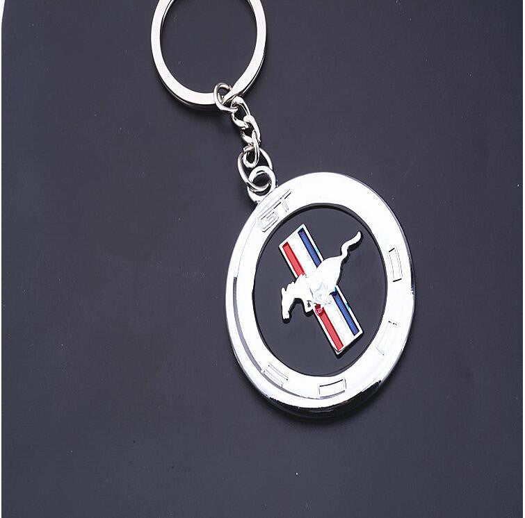 Chrome Finish Ford Horse Mustang Gt  Cobra Shelby Keychain
