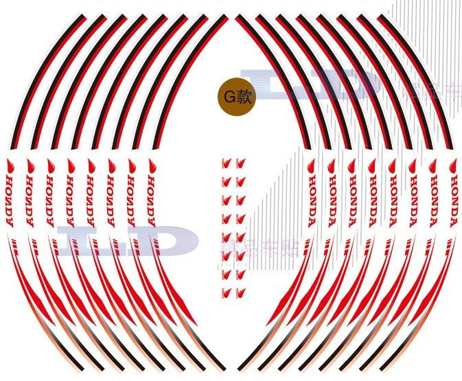 16x Honda Reflective Wheel Decals Tape Rim Stickers For Motorcycle