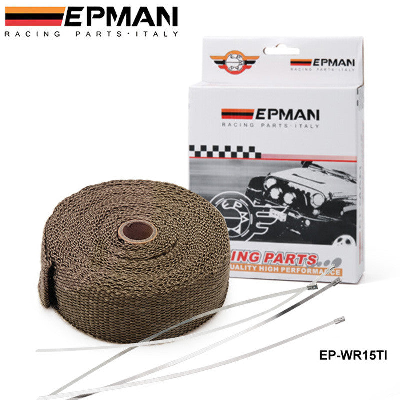 Exhaust Manifolds Turbo Insulation Tape Heat Wrap Tape Thermal Wrap with Ties