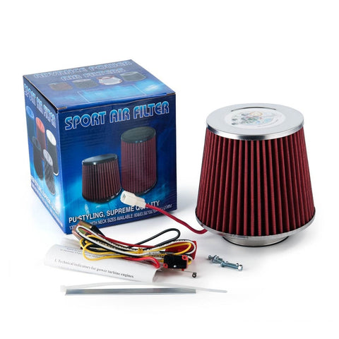 Electric Turbo Supercharger Kit Air Filter Intake For All