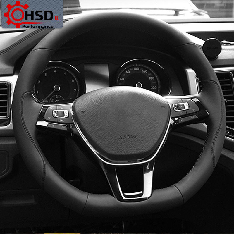 Sewing Leather Steering Wheel Cover For Volkswagen Jetta