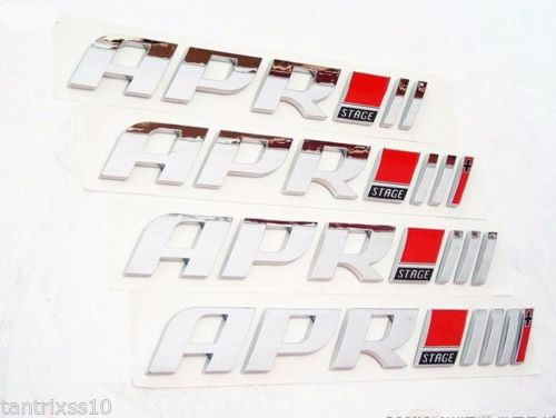 ABS Racing Badge For Real Tuners New APR Decal Car Emblem Sticker Stage 1 2 3