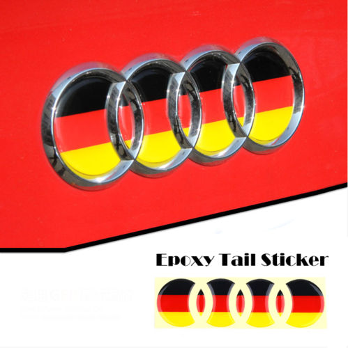 Aurie The Bear 3D German Flag Bubble Decal