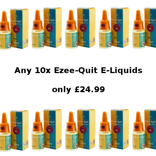 Ezee Quit 10 x 10ml Bottle Eliquid Deal