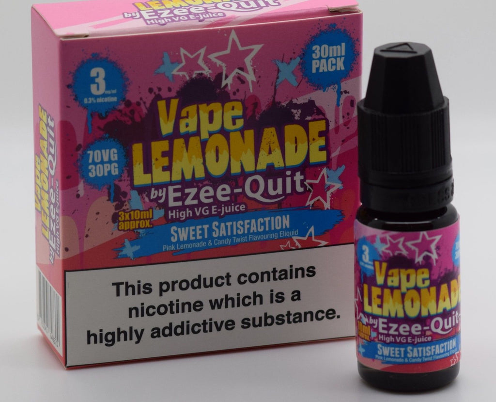 Vape Lemonade by Ezee Quit SWEET SATISFACTION High VG