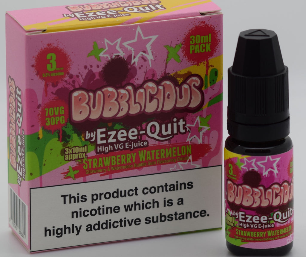Bubblicious by Ezee Quit STRAWBERRY WATERMELON BUBBLEGUM High VG