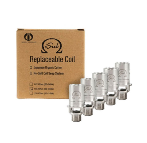 5 x Innokin iSub Replacement Coils 0.5 ohm