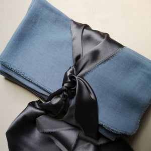 DUSKY BLUE COTTON NAPKINS
