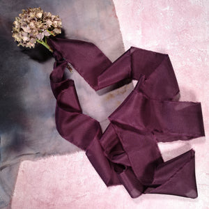 DUSKY PLUM SILK RIBBON