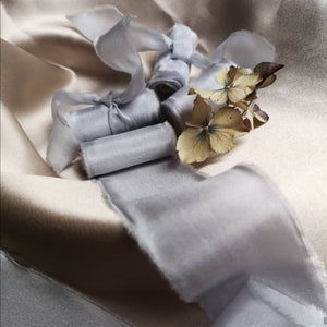 FRENCH BLUE LUXE SILK RIBBON