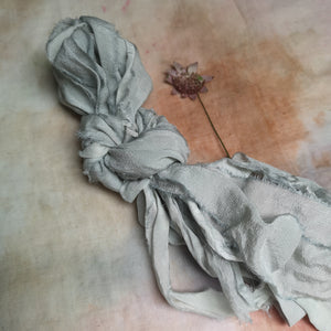 GREY SILK RIBBON BUNDLE
