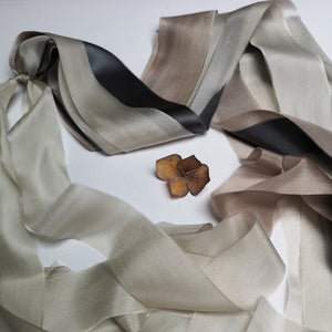 GREY & MINK BOUQUET DRAPE