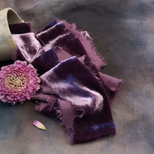 HEATHER SILK VELVET RIBBON