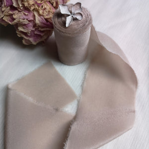 MATTE COFFEE LUXE SILK RIBBON