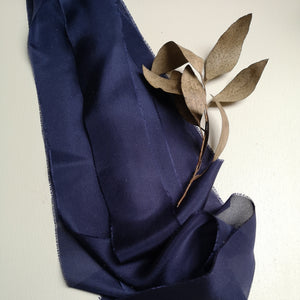 NAVY SILK LUXE SILK RIBBON