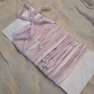 PALE PINK RUSTIC SILK RIBBON