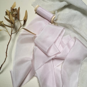 PALE PINK LUXE SILK RIBBON