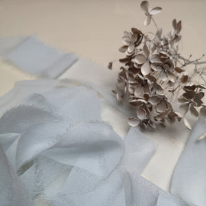 MATTE PALE BLUE LUXE SILK RIBBON