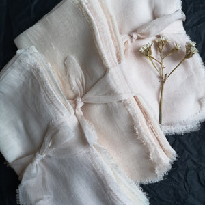 PALE BLUSH GAUZE COTTON NAPKINS