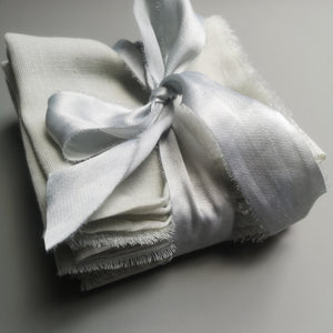 PALE GREY COTTON NAPKINS