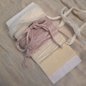 CREAM & MAUVE SELECTION RUSTIC SILK RIBBONS