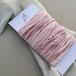 VINTAGE ROSE RUSTIC SILK RIBBON