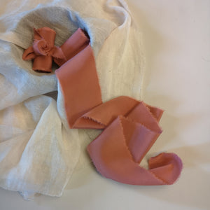 MATTE WARM TERRACOTTA  LUXE SILK RIBBON
