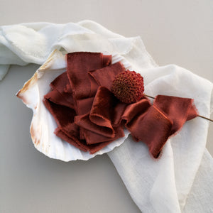 RUST SILK VELVET RIBBON