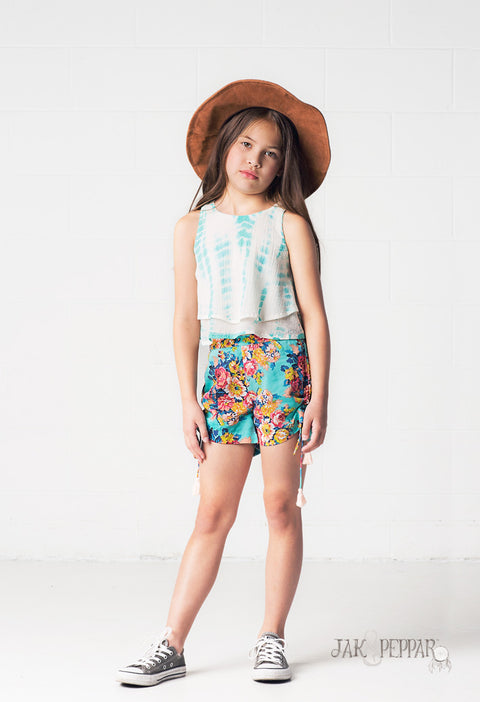 Pick Up and Go Shorts in Aquamarine