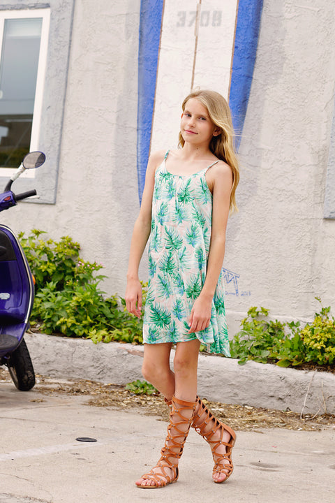 Lotus Swing Dress in Palmetto Island