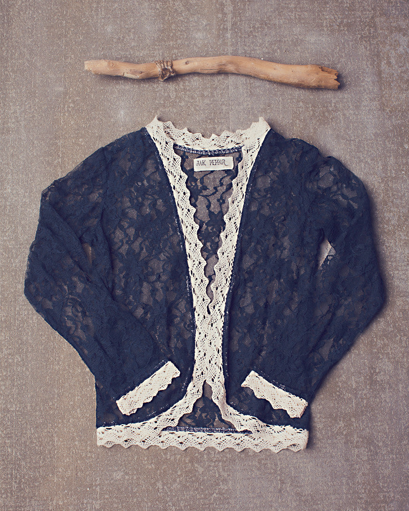 Lacey Day Jacket in Navy Bean