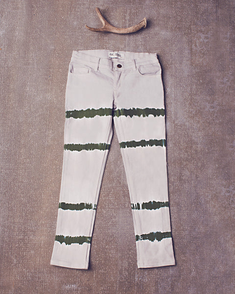 Peppar Prep School Skinnies in Dazed Olive