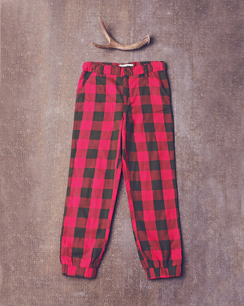Gwen Pant in Electric Pink Olive