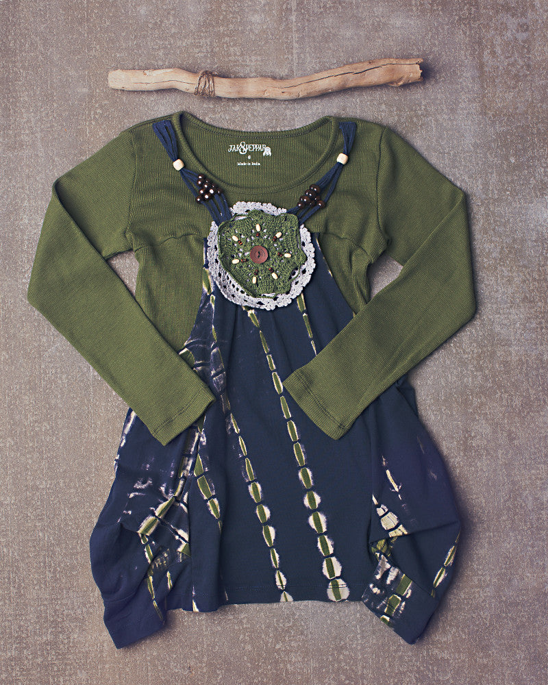 Jezabel Tunic in Dazed Navy Olive