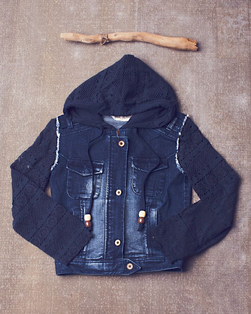 Hickman Jacket in Denim Skull